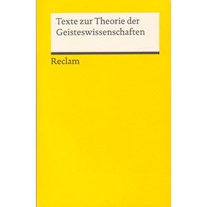 "Athena Panteos u. Tim Rojek (Hg.): ""Texte zur Theorie der Geisteswissenschaften"""